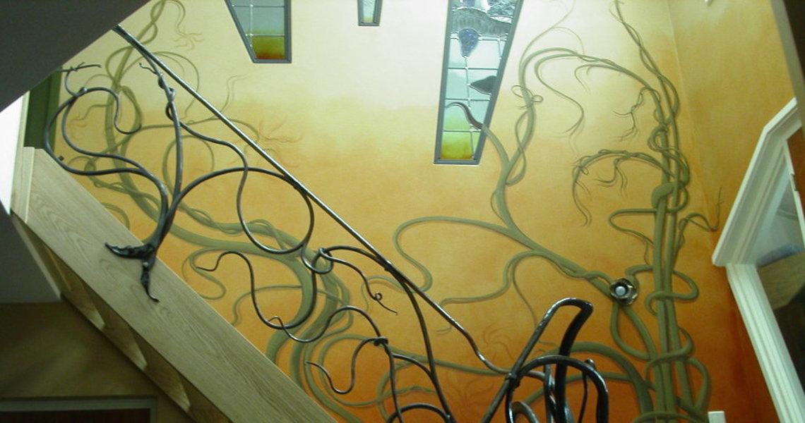 art decor kunst decoratie wandschildering architectuur woning hengelo