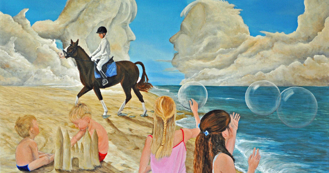 art decor kunstschilderen strandtafereel