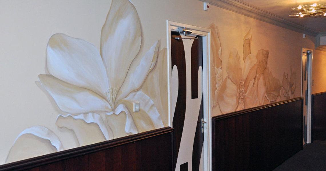 randolph algera muurschilderingen detail wand van der valk hotel