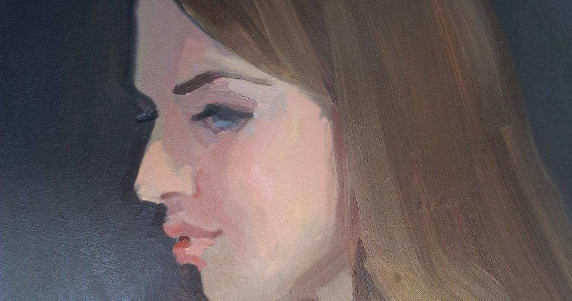 randolph algera schetsen vrouw met lang haar